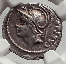 Roman Republic JULIUS CAESAR Family Ancient Silver Coin VENUS & CUPID NGC i62470