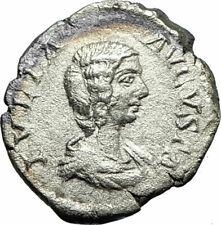JULIA DOMNA 207AD Rare Rome Silver Ancient Roman Coin Fortuna Child  i75836