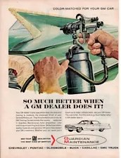 Vintage advertising print Car GM Guardian Maintenance 1963 Better Paint Job car