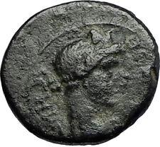 PERGAMON in Mysia 40AD Authentic Ancient Greek Coin ROMAN SENATE & ROMA i66715