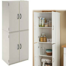 kitchen pantry cabinets freestanding average cost of new wooden ebay tall cabinet shelf storage organizer cupboard white