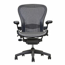 herman miller chairs seattle swivel chair base uk ebay aeron open box size b fully loaded hardwood caster