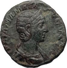 JULIA MAMAEA Authentic Ancient 231AD Sestertius Rome Roman Coin w VENUS i69265