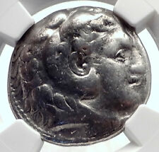 ALEXANDER III the Great 315BC Ancient Silver Greek TETRADRACHM Coin NGC i72070