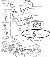 Toyota Trunk Latch Diagram. Toyota. Auto Parts Catalog And