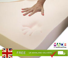 Luxury 4 Thick Double Memory Foam Mattress Topper With 2 Way Knitted Cover