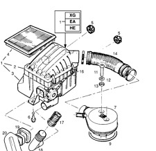 Vauxhall Corsa Car Air Intake & Fuel Pipes, Lines & Hosing