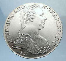 1780-1960 Maria Theresa Austria Germany Queen Silver Thaler Large Coin i72033