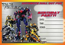 assorted transformers birthday cards