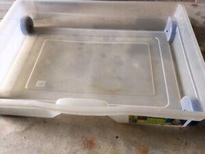 bacs de rangement sous lit en plastique