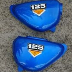 1978 Honda Ct70 Wiring Diagram Split Ac Image Motorcycle Parts For Cb100 Ebay Cb125s Cd125s Side Cover Emblem Left Right Pair Blue New