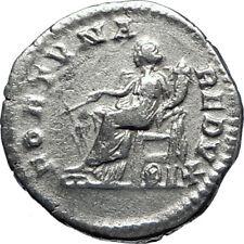 SEPTIMIUS SEVERUS 203AD Rome Authentic Ancient Silver Roman Coin FORTUNA i70083
