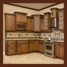 oak kitchen cabinet rustic art ebay 10x10 all solid wood cabinets geneva rta