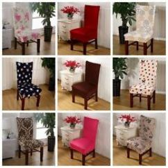 Dining Room Chair Covers Ebay Black And White Lounge Cushions Fabric Multi Color Wedding Banquet Cover Party Decor Seat Stretch Spandex