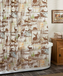 hunting shower curtain for sale ebay