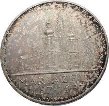 1957 AUSTRIA Mariazell BASILICA Antique Silver 25 Schilling Austrian Coin i71981