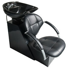backwash chairs for sale ted modern barrel chair units ebay new salon shampoo ceramic bowl sink leather seat unit station spa