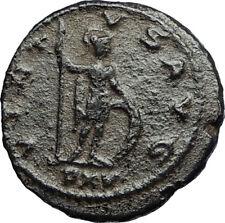 GALLIENUS Authentic Ancient Original 267AD Roman Antioch Coin  w SOLDIER i67655