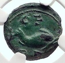 MAXIMINUS I Thrax Authentic Ancient 235AD Deultum Thrace DOLPHIN NGC i72105
