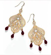 Brighton Nwt 78 Danika Lasergold Crystal French Wire Chandelier Earrings Je8161
