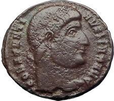 CONSTANTINE I the GREAT 327AD  Ancient Roman Coin ROMA Very rare  i73352