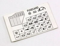 BMW FUSE BOX LOCATION DIAGRAM CARD FOR GLOVE BOX E39 5