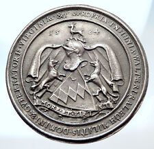 1977 GREAT BRITAIN London SIR WALTER RALEIGH Seal IMPRESSION Silver Medal i73896