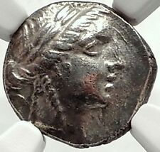 PHASELIS in LYCIA 168BC Authentic Ancient Silver Greek Coin w APOLLO  NGC i68550