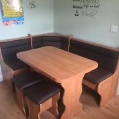 Kitchen Table And Corner Bench Broan Exhaust Fans Dining In Tables Ebay Seating 2 Stools With Storage