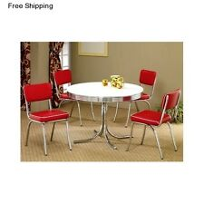 retro dining room chairs makeup table chair set ebay 5 piece dinette furniture 4 vintage breakfast nook
