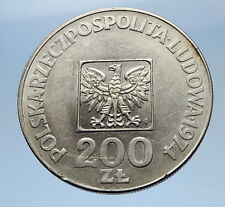 1974 Poland Silver 30th ANNIVERSARY Polish Peoples Republic Coin w Eagle i69617
