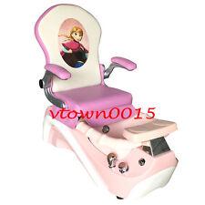 kids pedicure chair white covers for sale ebay elsa anna kid nail salon massage mini spa pink