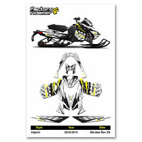 2013-2014 SKI DOO XM SNOWMOBILE GRAPHICS ROCKSTAR STYLE BY