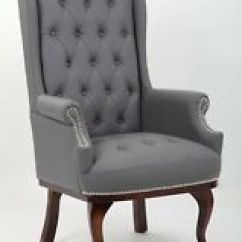 High Backed Chair Rattan Chairs Uk Grey Back Armchairs Ebay Chesterfield Queen Anne Style Leather Armchair Wingback Fireside
