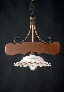 Diametro 50 cm, altezza con cavo 80cm. Lampadario Rustico Acquisti Online Su Ebay