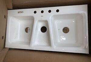 triple bowl sink for sale ebay