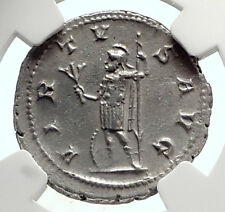 GORDIAN III Authentic Ancient 241AD Silver Roman Coin of Rome VIRTUS NGC i69078