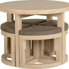Space Saver Kitchen Table And Chairs Sink Stopper Saving Round Chair Sets Ebay Dining Set 4 Stools Seat Small Eat Room Unusual Style