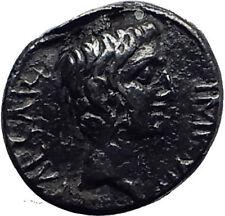 AUGUSTUS as Octavian 28BC ASIA RECEPTA Ancient Silver Roman Coin VICTORY i63914