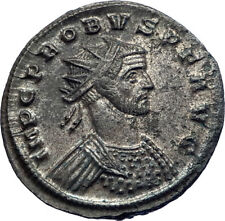 PROBUS 280AD Authentic Genuine Silvered Ancient Roman Coin PAX Peace i73391