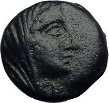 Thespiai in Boeotia 146BC Authentic Ancient Greek Coin VEILED FEMALE LYRE i63287