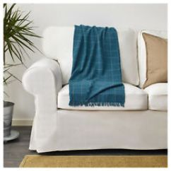 100 Polyester Sofa Throws Microsuede Ikea Ebay Couch Knee Lounge Blanket Throw Rug Bedspread 110x170cm Checked Blue