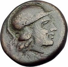MYRINA in AEOLIS 400BC Authentic Ancient Greek Coin ATHENA & AMPHORA Vase i64569