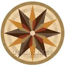 Hardwood flooring Floor Medallion Inlay 40