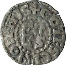 1017AD FRANCE Medieval MAINE Duke HERBERT I Antique Silver Coin CROSS i74595