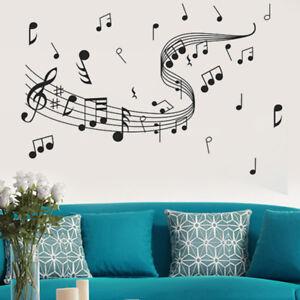 Anhuib 55 pezzi adesivi da parete musicali,musicale note adesivi murali,stickers murali nota musicale per stanza della musicale,rimovibili vinile nero. Note Musicali Adesivi A Adesivi E Stancil Da Parete Acquisti Online Su Ebay