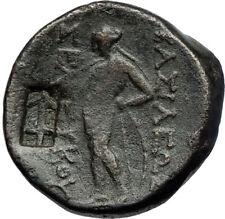 SELEUKOS II Kallinikos Seleukid Greek COUNTERMARK Coin ATHENA APOLLO i71067