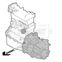 Engine Mount fits FIAT DOBLO 263 1.3D Transmission End