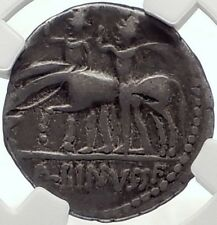 Roman Republic Battle of Lake Regillus Dioscuri Ancient Silver Coin NGC i70164