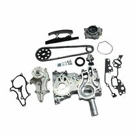 HEAVY DUTY TIMING CHAIN+COVER KIT w/METAL STEEL GUIDE for